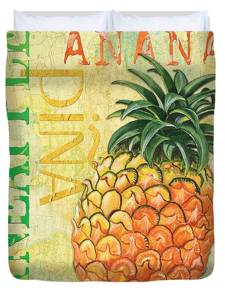 Froyo Pineapple Duvet Cover by Debbie DeWitt