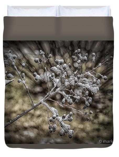 Frozen Berries Duvet Cover