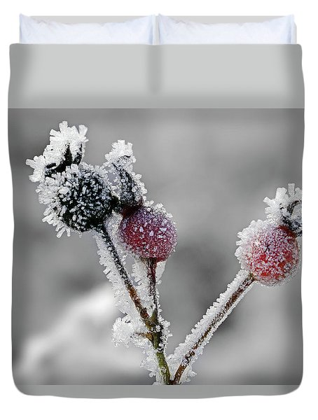 Frozen Buds Duvet Cover