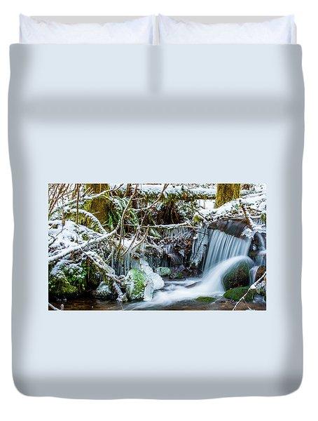 Frozen Creek Duvet Cover