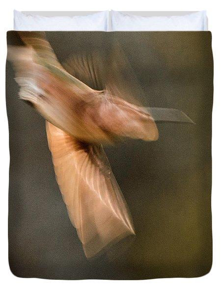 ...frozen Flight Hummingbird.... Duvet Cover