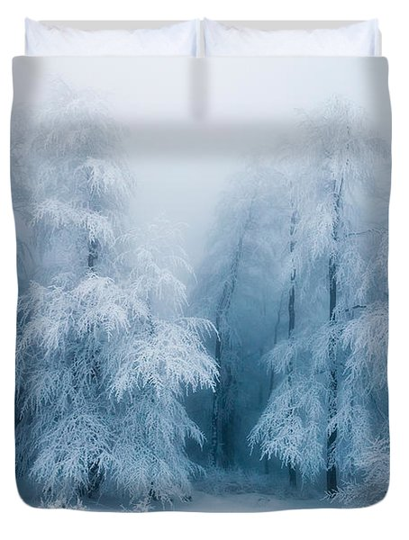 Frozen Forest Duvet Cover by Evgeni Dinev