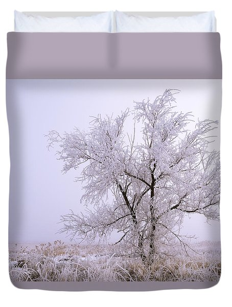 Frozen Ground Duvet Cover