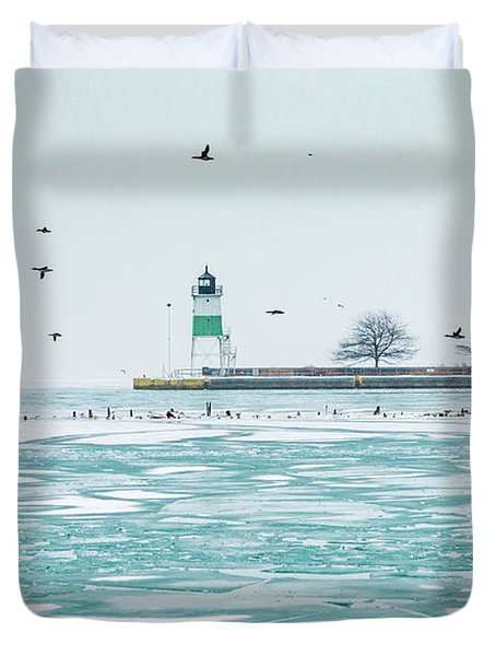 Frozen In Chicago Duvet Cover
