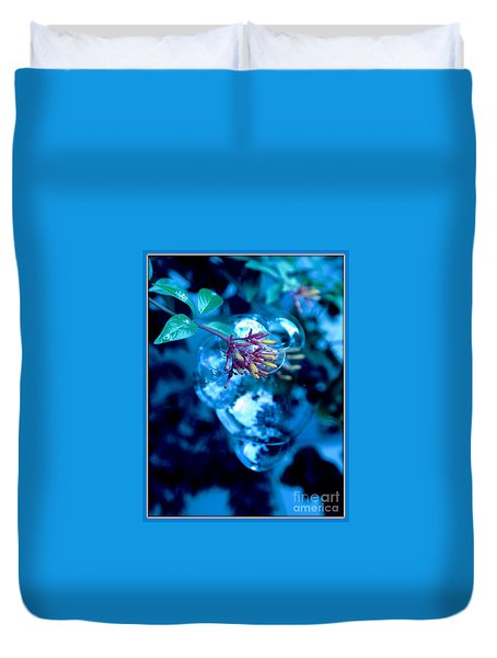 Duvet Cover featuring the photograph Frozen In Time by Irma BACKELANT GALLERIES