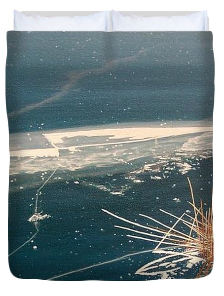Frozen In Time Duvet Cover by Kenneth M  Kirsch