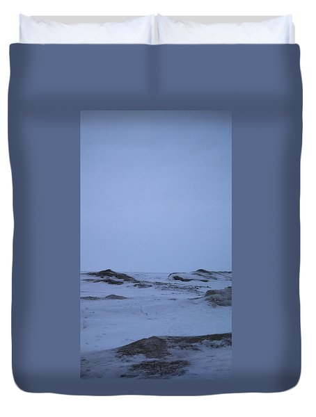 Frozen Lake Erie Duvet Cover