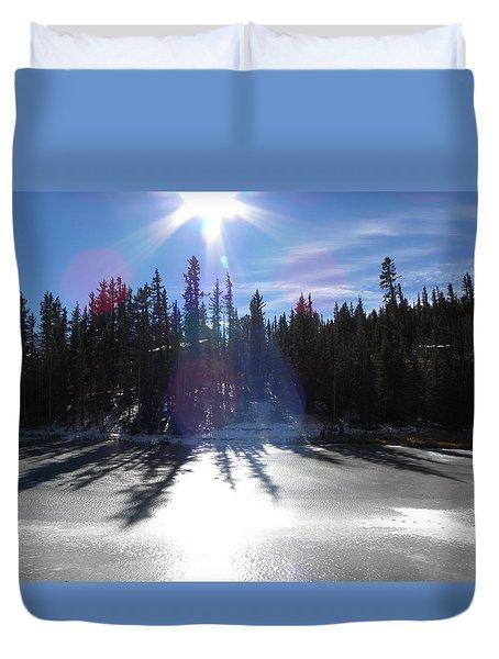Sun Reflecting Kiddie Pond Divide Co Duvet Cover