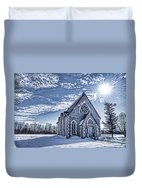 Frozen Land Duvet Cover by Alana Ranney