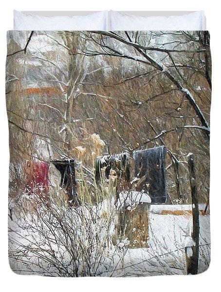 Frozen Laundry Duvet Cover