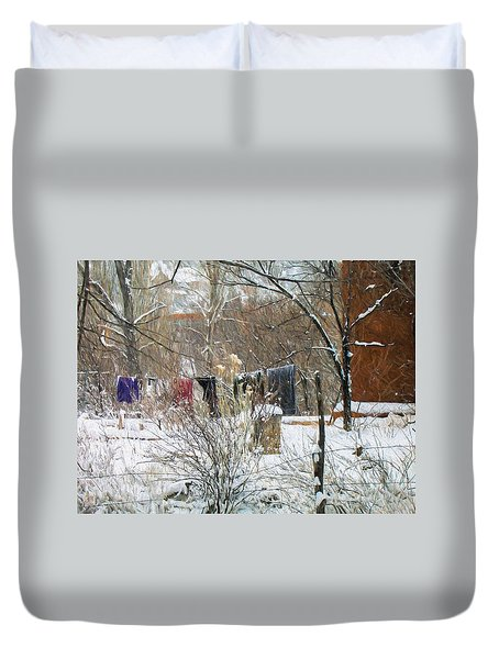 Frozen Laundry Duvet Cover