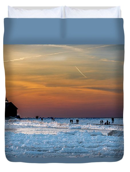 Frozen Lighthouse Duvet Cover