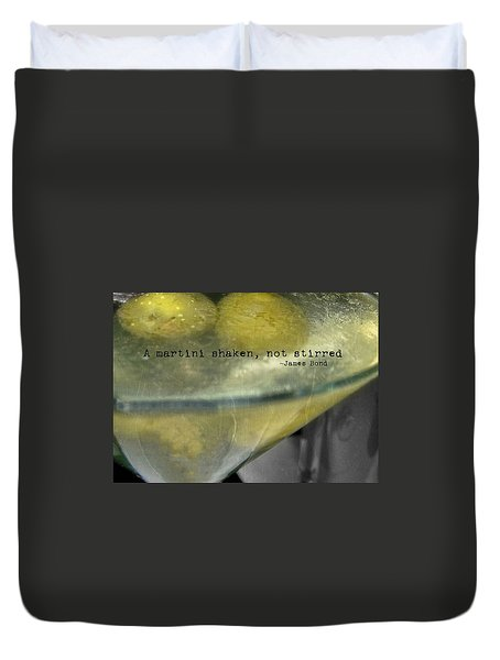 Frozen Martini Quote Duvet Cover