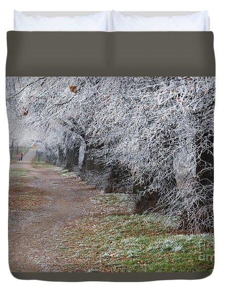 Frozen Pathway Duvet Cover