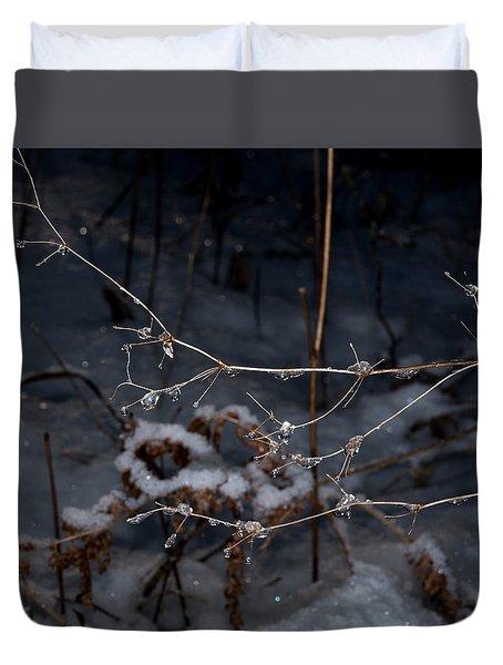 Frozen Rain Duvet Cover