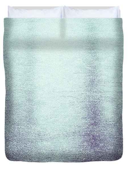 Frozen Reflections Duvet Cover by Wim Lanclus