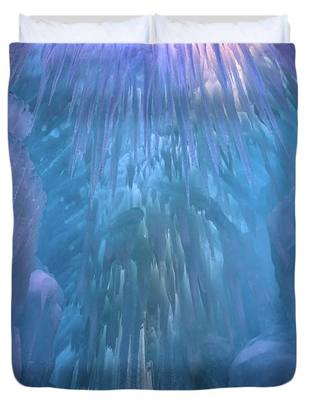 Duvet Cover featuring the photograph Frozen by Rick Berk