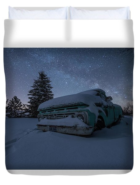 Duvet Cover featuring the photograph Frozen Rust  by Aaron J Groen