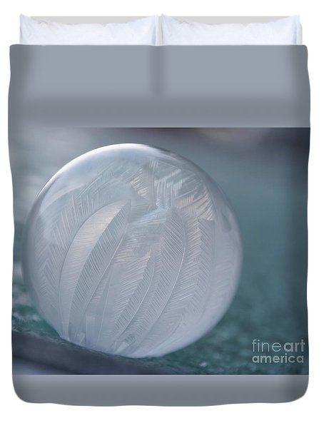 Frozen Soap Bubble -georgia Duvet Cover