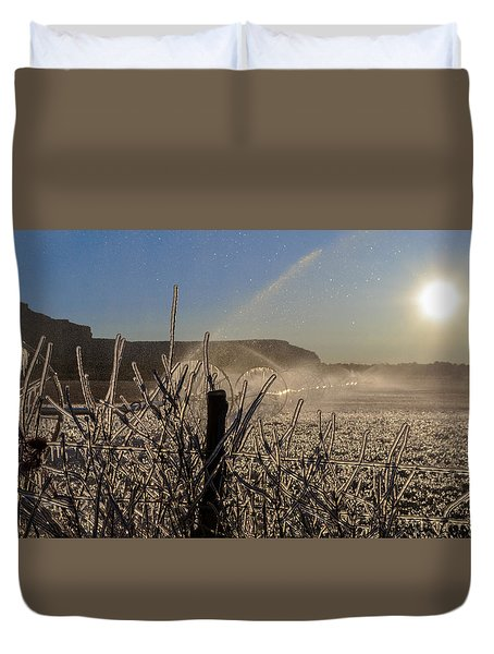 Frozen Sunrise Duvet Cover
