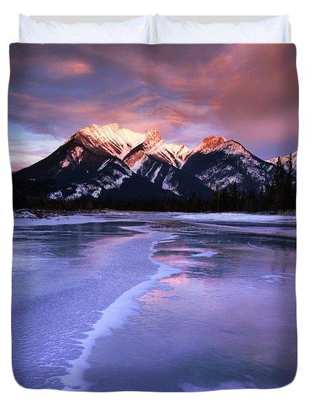 Frozen Sunrise Duvet Cover