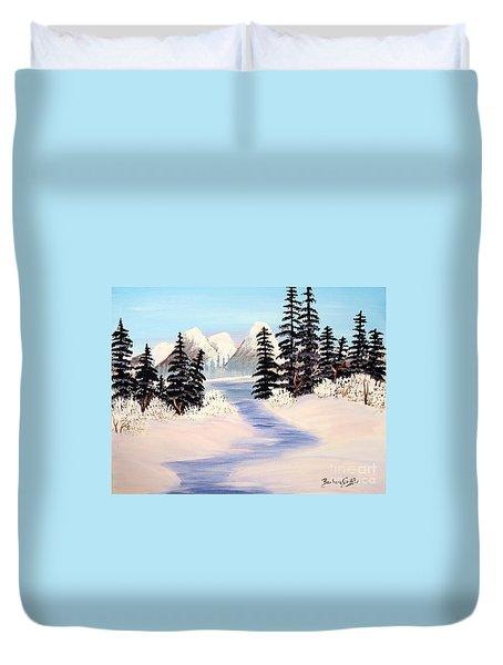 Frozen Tranquility Duvet Cover