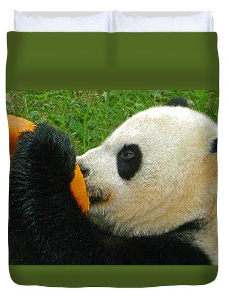 Frozen Treat For Mei Xiang The Giant Panda Duvet Cover