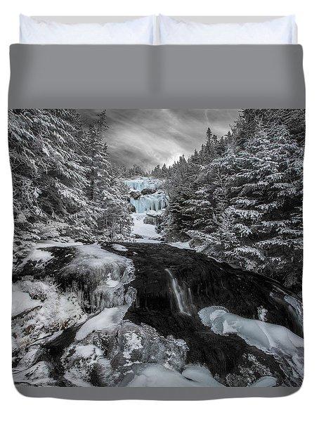 Frozen Water In Ammo Ravine Duvet Cover