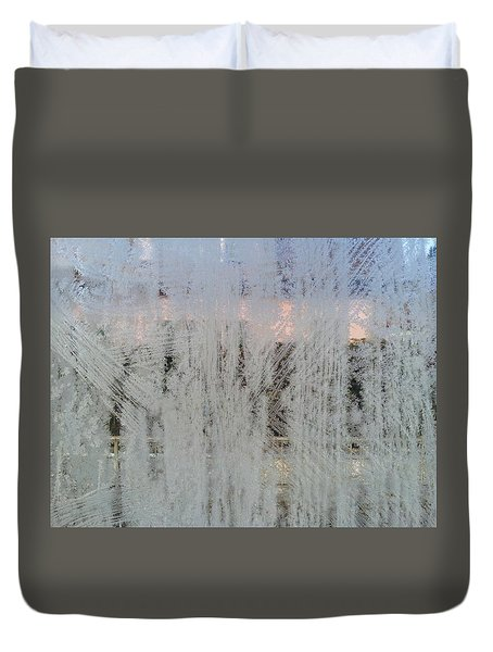 Frozen Window Duvet Cover