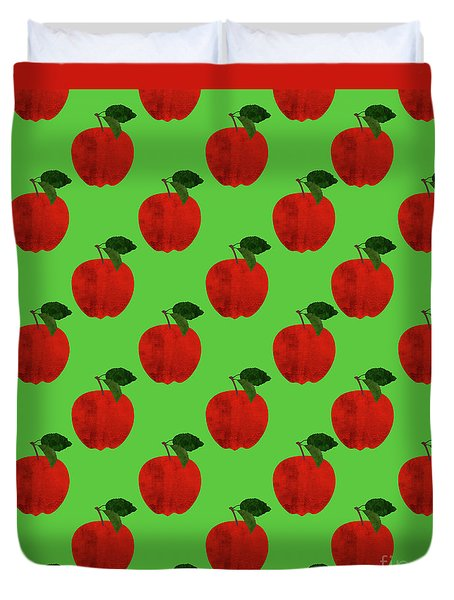Fruit 02_apple_pattern Duvet Cover