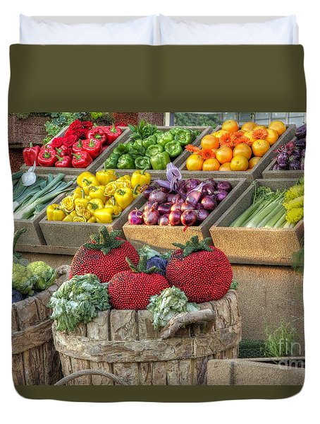Fruit And Veggie Display Duvet Cover
