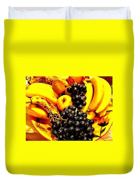 Fruit Basket Duvet Cover by Carlos Avila