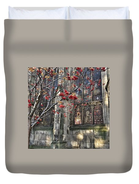 Fruit By The Church Duvet Cover