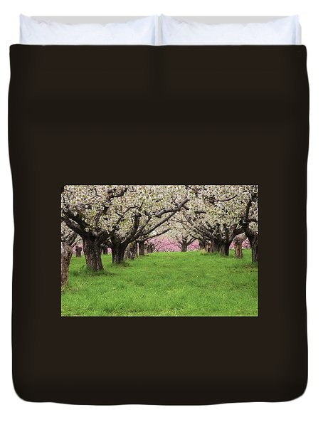 Fruit Orchard Duvet Cover