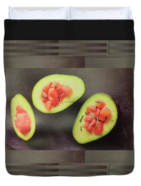Duvet Cover featuring the photograph Fruit Salad Chef Cuisine Kitchen Christmas Holidays Festivals Birthday Dad Mom  by Navin Joshi
