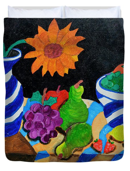 Fruitful Still Life Duvet Cover