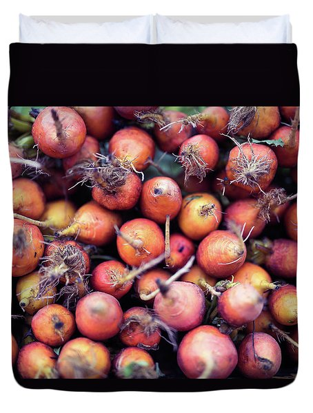 Fruits And Vegetable At Farmer Market Duvet Cover