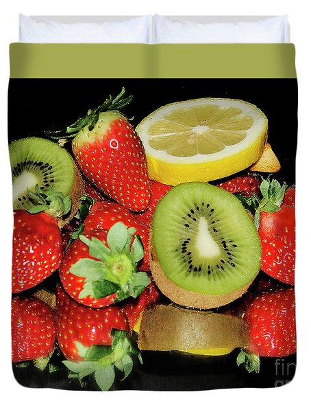 Duvet Cover featuring the photograph Fruits by Elvira Ladocki