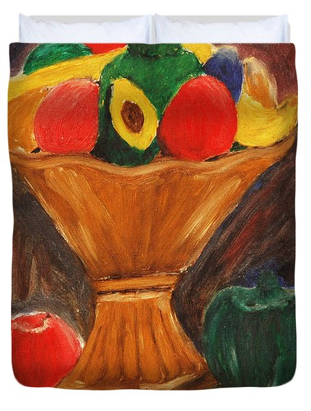 Fruits Still Life Duvet Cover