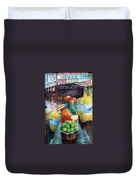 Fruitstand Rhythms Duvet Cover