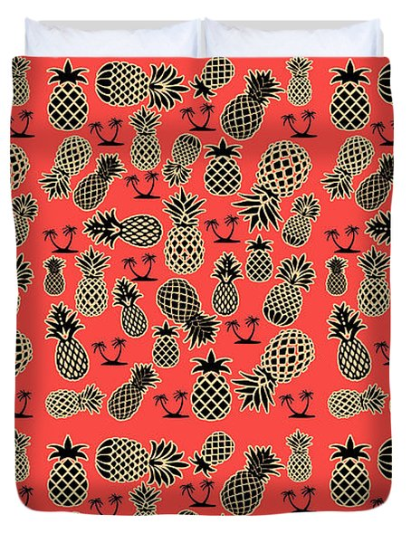 Fruity Pineapple  Duvet Cover by Naviblue