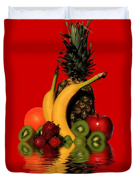 Fruity Reflections - Dark Duvet Cover