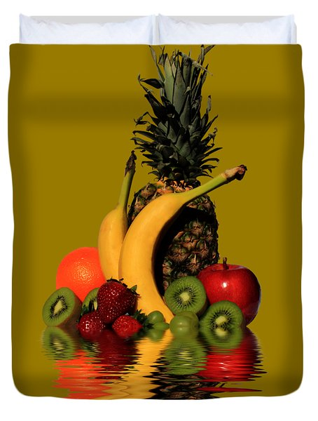 Fruity Reflections - Medium Duvet Cover