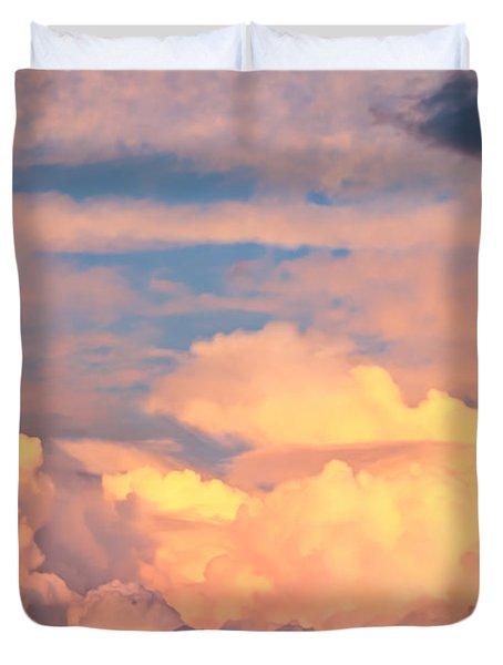 Ft De Soto Sunset Clouds Duvet Cover