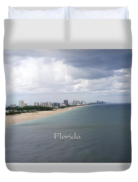 Ft Lauderdale Florida Duvet Cover