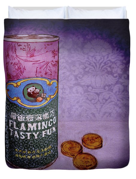 Ftf Can And Coins Duvet Cover