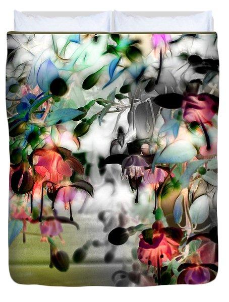 Fuchsia Abstract Duvet Cover by Stuart Turnbull