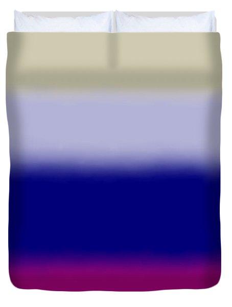 Fuchsia And Blue - Sq Block Duvet Cover