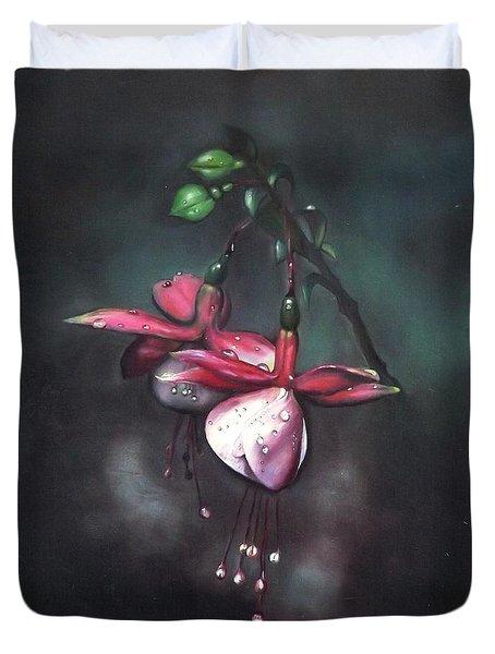 Fuchsia And Dew  Duvet Cover