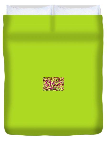 Fuchsia And Green -- Aloha Ground Cover Duvet Cover